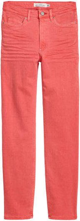 Slim-fit Pants - Red