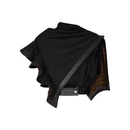 Gilet avec cape à volants - Prêt-à-porter de luxe Femme | LOUIS VUITTON