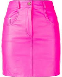 hot pink leather skirt - Google Search