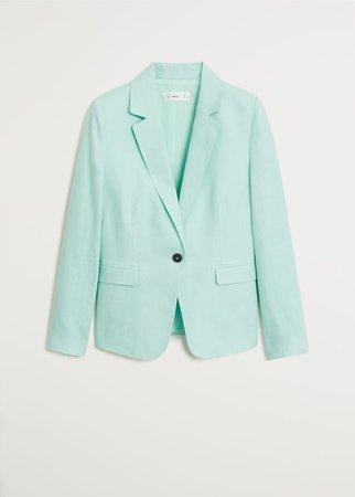 Linen button blazer - Women | Mango USA