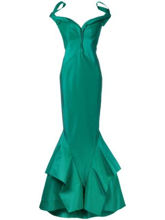 Zac Posen Bardot fishtail gown $11,849 - Shop SS17 Online - Fast Delivery, Price