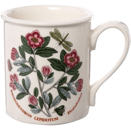 floral printed white mug