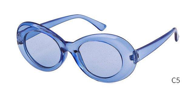 blue glitter cobain glasses
