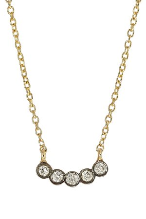 18-Karat Yellow Gold Diamond Necklace Gr. One Size