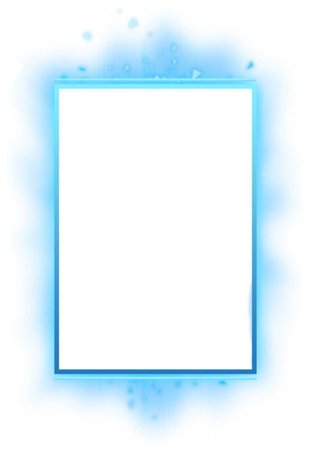 Blue Glowing Frame