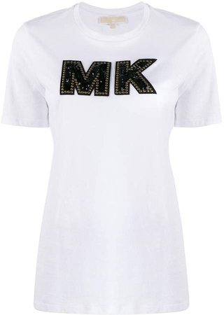 embellished logo T-shirt
