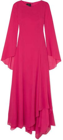 Silk-georgette Gown - Pink