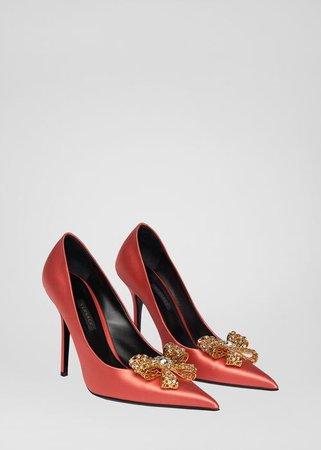 Versace V-Bow Pumps for Women   Official Website