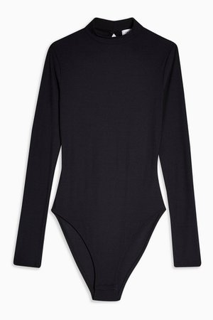 Open Back Bodysuit black turtleneck   Topshop