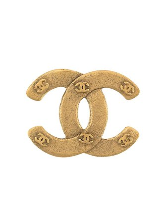 Chanel Pre-Owned Broche Con Logo CC 1990 - Farfetch