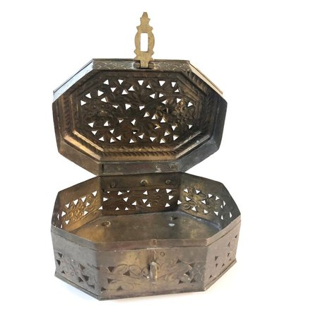 Vintage Brass Box with Handle   Etsy