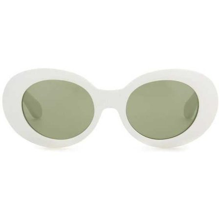 white clout goggles with green tint