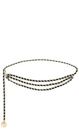 B-Low the Belt Gissel Mini Belt in Black & Gold | REVOLVE