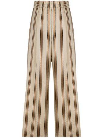 Jejia Striped Print Palazzo Trousers - Farfetch