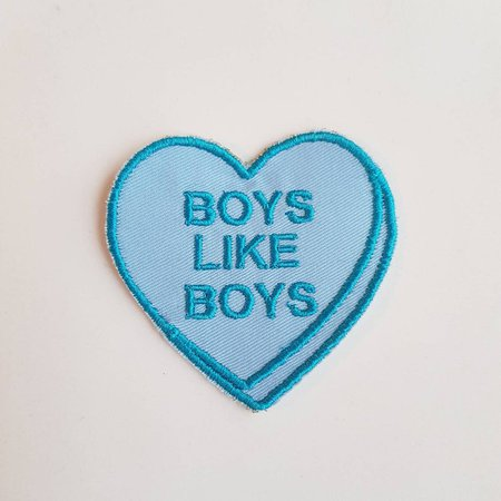Gay Pride Boys Like Boys Candy Heart Iron On Patch | Etsy