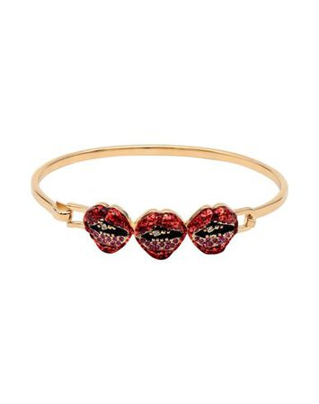 Marc Jacobs Lips In Lips Hinge - Bracelet - Women Marc Jacobs Bracelets online on YOOX United States - 50230196JL