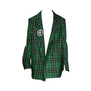 green plaid blazer jacket png