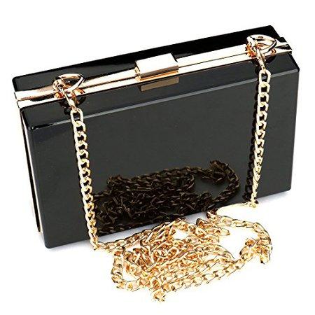 acrylic chain clutch