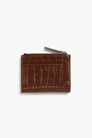 Handy wallet - Brown faux croc - Bags, wallets & belts - Monki WW