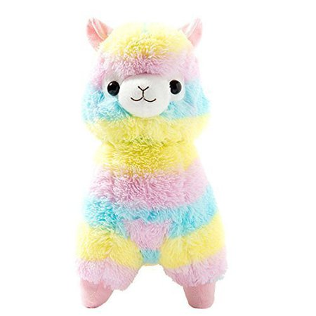 "Amazon.com: Cuddly Llama Rainbow Alpaca Doll 7"" Soft Baby Stuffed Animal Toy Puppet Doll Valentine's Day Birthday Xmas Christmas Wedding Anniversary Presents Gifts by AngelGift: Toys & Games"