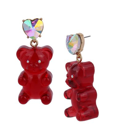 Betsey Johnson Festive Gummy Bear Drop Earrings & Reviews - Earrings - Jewelry & Watches - Macy's