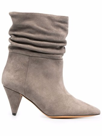 IRO gathered slouch-leather boots - FARFETCH