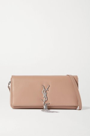 Beige Kate leather shoulder bag | SAINT LAURENT | NET-A-PORTER