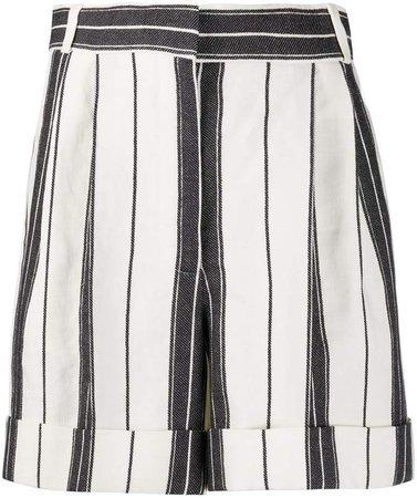 High-Waist Striped Shorts