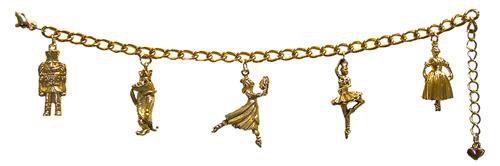 Nutcracker Characters Five Charms in Gold or Silver Charm Bracelet