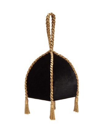 Gemma braided-handle velvet clutch | Sanayi 313 | MATCHESFASHION.COM US