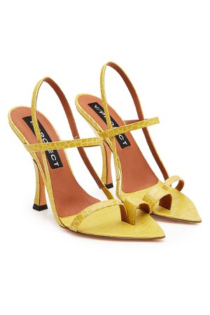 Embossed Leather Sandals Gr. EU 39