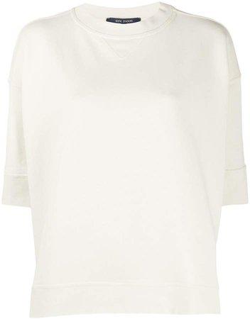oversized short-sleeve sweatshirt