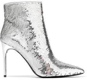 Celyn Sequined Woven Ankle Boots
