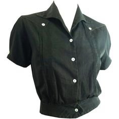 black short sleeved shirt