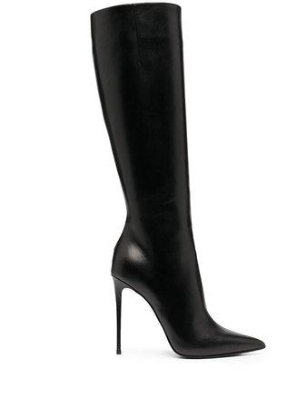 Shop black Le Silla Eva leather boots with Afterpay - Farfetch Australia