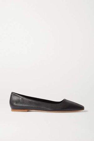 Aeydē aeyde - Gina Leather Ballet Flats - Black
