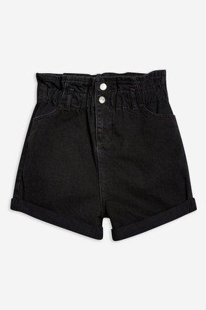 Paperbag Denim Shorts | Topshop
