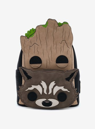 Loungefly Marvel Guardians Of The Galaxy Pop! By LF Groot & Rocket Mini Backpack