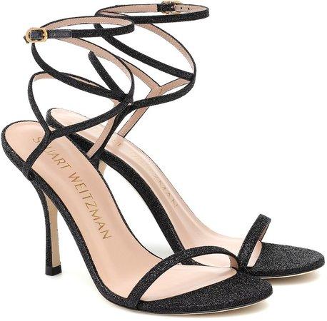 Merinda glitter leather sandals