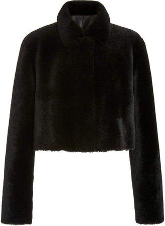Akris Cropped Shearling Jacket