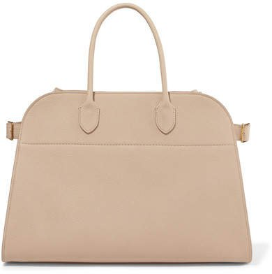 Margaux Textured-leather Tote - Beige