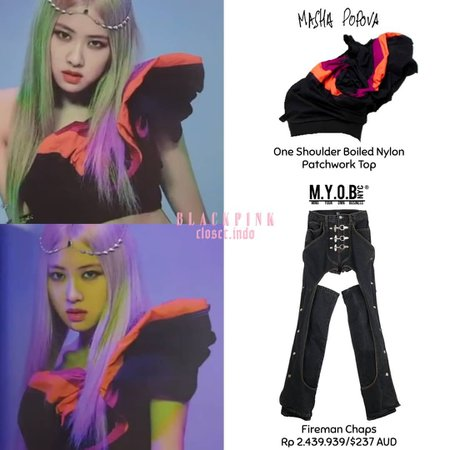 """BLACKPINK FASHION INDONESIA on Instagram: """"[HOW YOU LIKE THAT ALBUM] @roses_are_rosie wearing - Top From Masha Popova, Pants From Myob - Top cr @styleofrosie 💕 #CLOSET_ROSÉ…"""""""