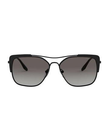 Prada Metal Rectangle Sunglasses