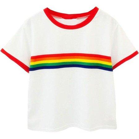 rainbow stripe oversized t shirt - Google Search