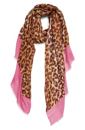 kate spade new york panthera oblong scarf | Nordstrom