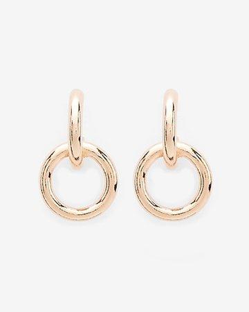 Interlocking Hoop Earrings | Express