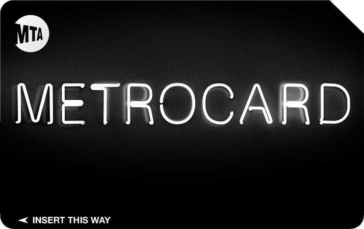 black nyc metro card