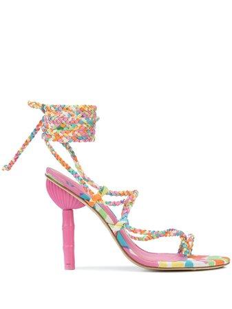 Cult Gaia Adina Woven Strap Sandals Ss20 | Farfetch.com