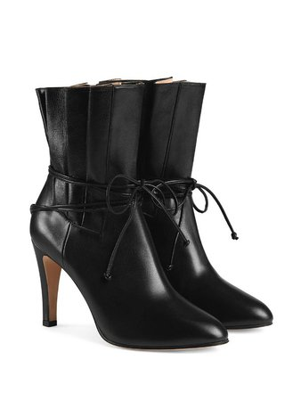 GUCCI gathered upper ankle boots