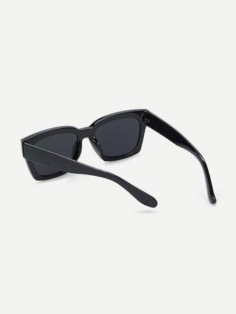 Acetate Frame Flat Lens Sunglasses | SHEIN